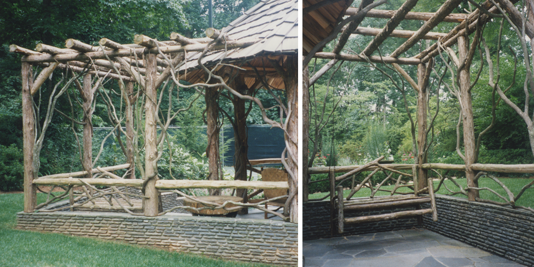 Rustic Garden Structure Difiore amp Partners